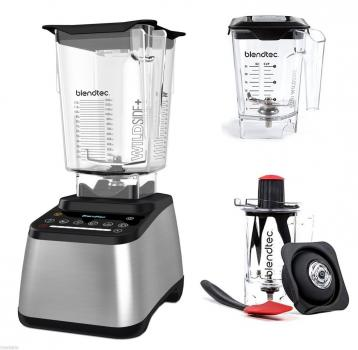 Blendtec Designer 725 Farbe: Silbermetallic + Twister Jar + Mini  Wildside Jar im Set